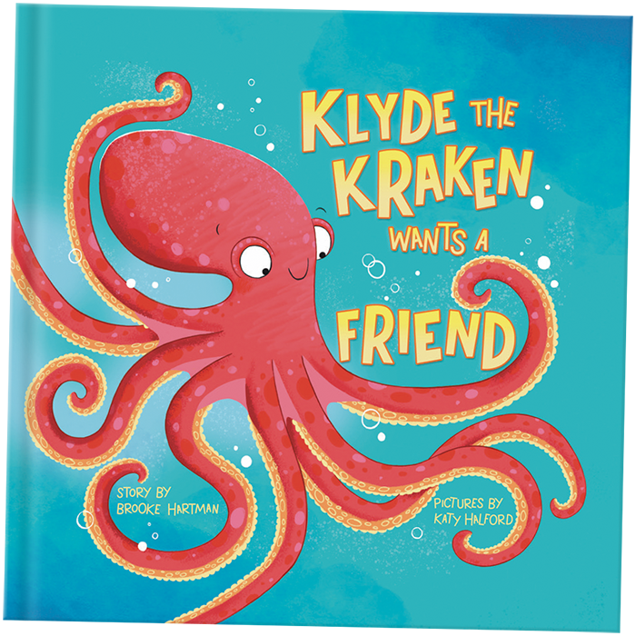 Children's book Klyde the Kraken Wants a Friend by Brooke Hartmann and illustrated by Katy Halford